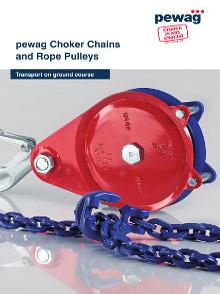 Catálogo Pewag correntes para arraste de toras e polias para cabos de aço - ancoragem