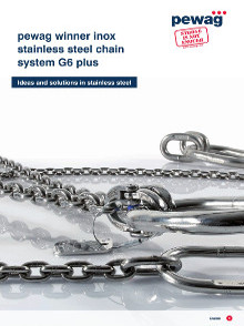 Catálogo Pewag Correntes e acessórios em aço inox Grau 6 para elevação de cargas
